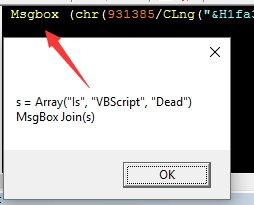 How do you Deobfuscate the Obfuscated VBScript?
